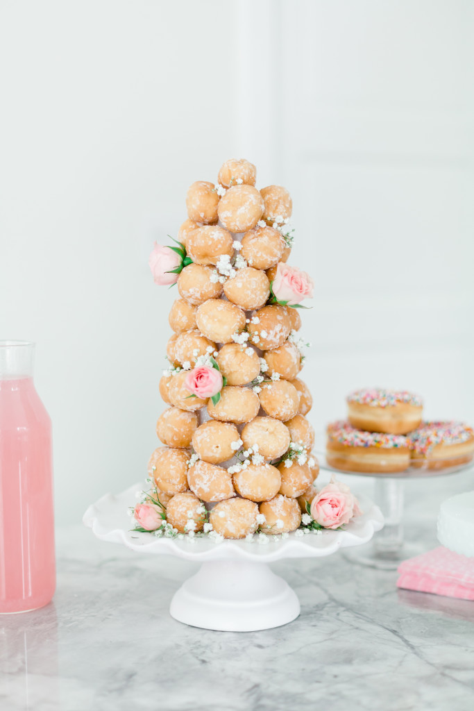 How to make a donut hole tower